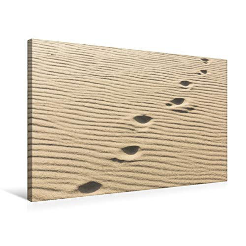 CALVENDO Premium Textil-Leinwand 75 cm x 50 cm quer, EIN Motiv aus dem Kalender Sylt - Magische Momente | Wandbild, Bild auf Keilrahmen, Fertigbild auf echter Fußspuren im Sand Natur Natur