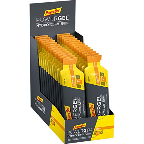 PowerBar PowerGel Hydro Orange 24x67ml - Gel Energético de Alto Carbono + C2MAX Magnesio y Sodio