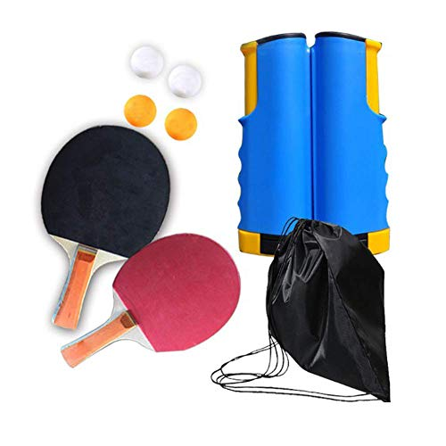 %21 OFF! candyanglehome Ping Pong Paddle Set with Retractable Net, Table Tennis Accessories for Home...