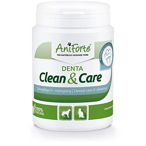 AniForte Denta Clean & Care Zahnsteinpulver für Hunde & Katzen 150g - Natürliche Zahnpflege, Mundhygiene & frischer Atem, Zahnsteinentferner & Zahnreinigung, gegen Verfärbung, Zahnbelag & Plaque