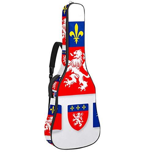Bolsa para guitarra impermeable con cremallera suave para guitarra, bajo, acústico y clásica, para guitarra eléctrica, bolsa de la bandera de Lyon