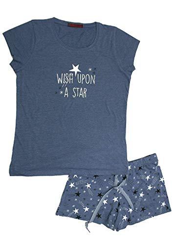 Pijama Niña Corto Estrellas (Jeans, 06)