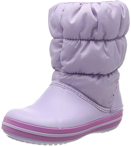 crocs Unisex-Kinder Winter Puff Boot Kids Schneestiefel, Violett (Lavender 530), 25/26 EU