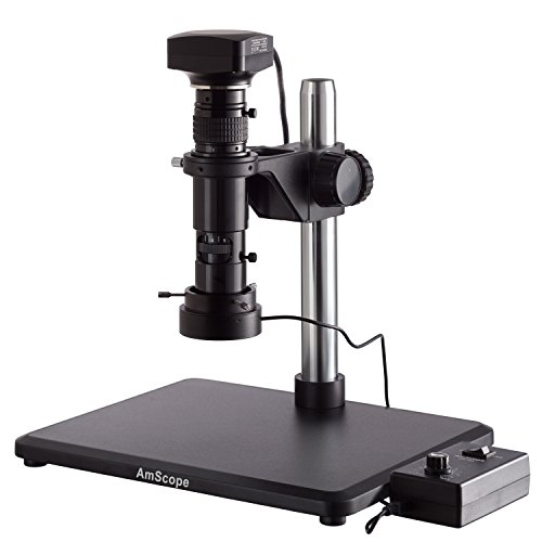 AmScope .83X-10X Wide-Zoom Monocular Inspection Microscope with 20MP USB Camera