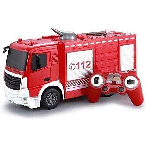 SXLCKJ 2.4G Vehículo de ingeniería Camión de Bomberos Remoto Camión de rociado de Agua con un Clic Camión de Bomberos Coche de Bomberos Coche de Juguete para niños pequeños Modelo C (Coche RC)