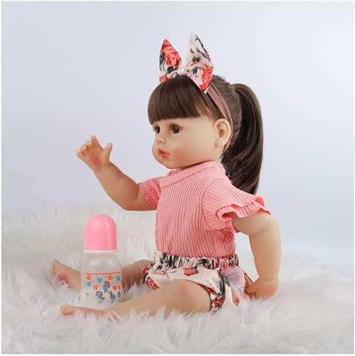 YANRU Cuerpo Completo De Silicona Reborn, 22 Pulgadas / 55 Cm Munecas Bebes Reales - Sin PVC MuñEca ReciéN Nacida - For 3-10 Baby Gifts
