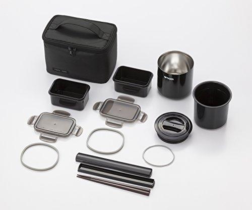 タイガー魔法瓶保温弁当箱ステンレスランチジャー茶碗約2.3杯分ポーチ付きブラックLWY-E461-KTiger