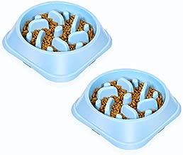 UPSKY Slow Feeder 2 Pack Small Dog Bowls Non Slip Puzzle Bowl Fun Feeder Interactive Bloat Stop Dog Bowl Anti-Choking Dog Bowl