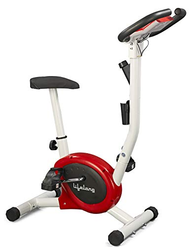 Lifelong LLF108 FitPro Stationary Exercise Belt Bike for Weight Loss at Home with Display and Resistance Control, White (Free Home...