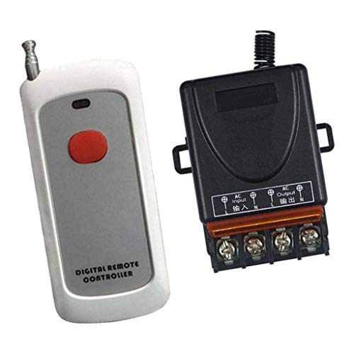 YINGGEXU Relay AC85V 250V 1 Channel Relay RF Remote Control Wireless 1 Transmitters 1 Receiver A Industrial