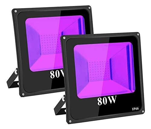 TOPLANET 80W-2-Pack Projecteur Lumière Violette IP66 Impermé