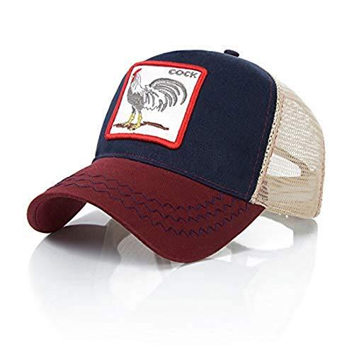 Ss - Gorra de béisbol - para hombre Cock Navy Blue Wine Red Talla ún