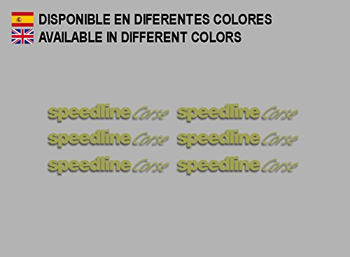 Ecoshirt AQ-9Q89-W52P Aufkleber Speedline Corse F196 Stickers Aufkleber Decals Adesivi Rallye Racing, Gold
