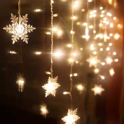 MHBY LED Lights. Christmas Decoration Curtains Snowflake LED String Lights Flashing Lights Curtain Lights Waterproof Outdoor Party Lights | LED Strings.