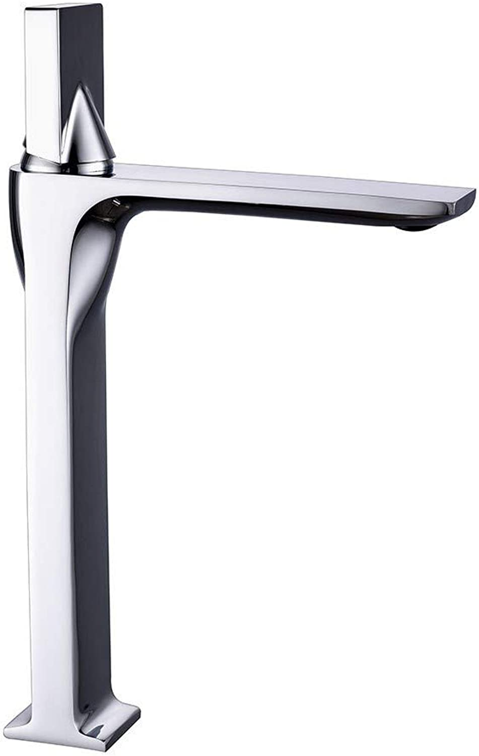 Bionmceu Bathroom Sink Taps Blender Creative Mixing Faucet Modern Chrome Coating Brass Bathroom Mirror Effect Single Handle Faucet