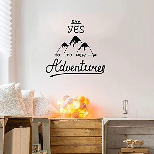 Citas motivacionales Diga sí a New Adventures Mountain Travel Etiqueta de la pared Vinilo Sport Car Logo Patrón Foto