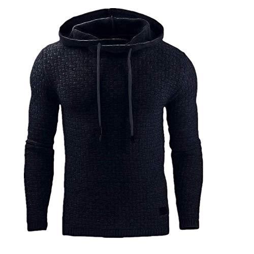 N\P Otoño Invierno Sudadera con Capucha Suéter de los Hombres Color Sólido Casual Deportes Top