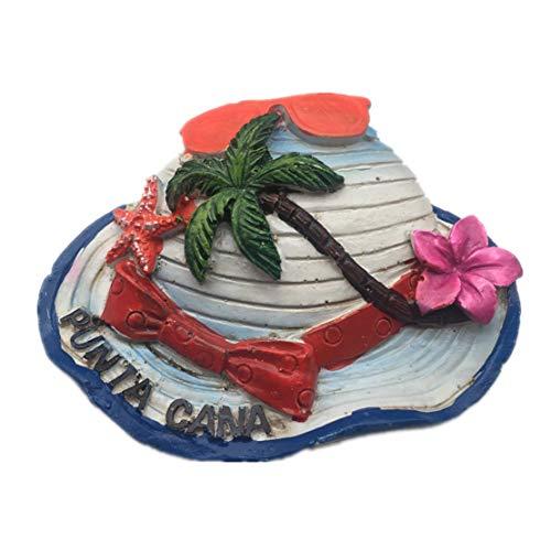 Punta Cana Dominica resina 3d fuerte imán para nevera recuerdo turista regalo chino imán hecho a mano creativo hogar y cocina decoración magnética adhesivo