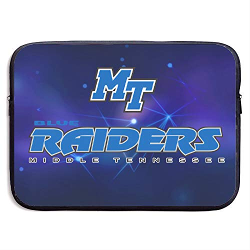 Mid. Tenn. St. Blue Raiders Laptop Sleeve Bag Protective Bag Water-Resistant Neoprene Notebook Computer Pocket Tablet Briefcase Carrying Bag/Pouch Skin Cover for Ultrabooks 15 inch