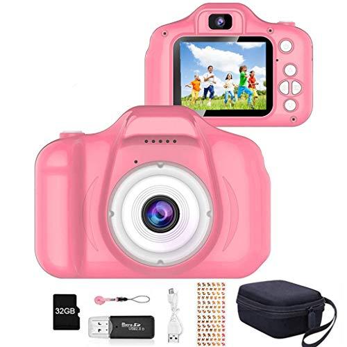 YunLone ToyZoom Macchina Fotografica per Bambini 12MP Selfie Fotocamera Bambino con Scheda 32GB, Custodia, Batteria 1200mAh, Lettore Musicale, Regalo Compleanno per Bambini