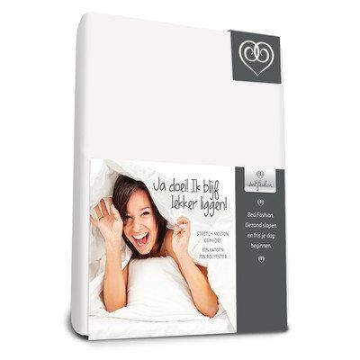 Bed-Fashion Flanelowe elastyczne prześcieradło wygodne 90 x 200 cm, białe, pojedyncze