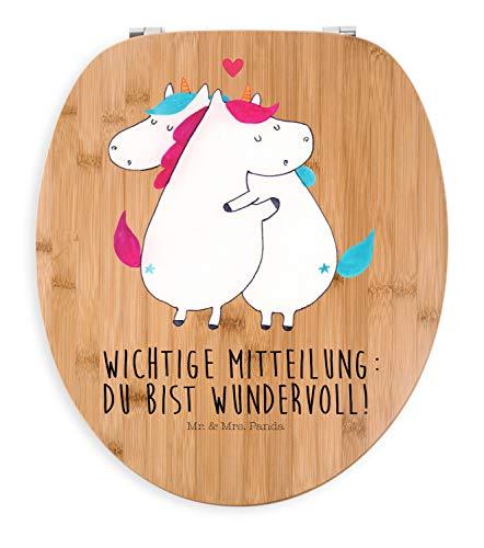 Mr. & Mrs. Panda Klodeckel, Toilette, Motiv WC Sitz Einhorn Mitteilung mit Spruch - Farbe Transparent