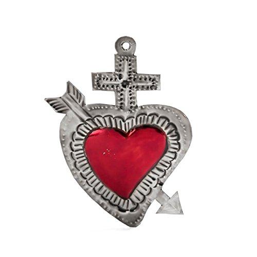 FANMEX - Fantastik - Corazón de hojalata artesanía Mexicana (Flecha Plata)
