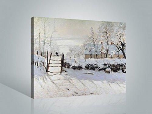 1art1 Claude Monet - Die Elster, 1868-69 Bilder Leinwand-Bild Auf Keilrahmen   XXL-Wandbild Poster Kunstdruck Als Leinwandbild 80 x 60 cm