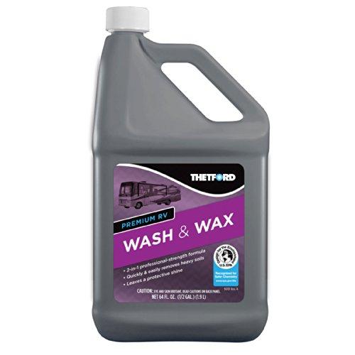 Thetford Premium RV Lavar y Cera, detergente y Cera para acople de/Barcos/Camiones/Coches–64oz 96014