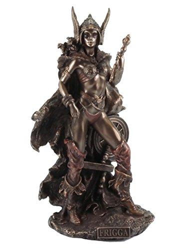 Figur Frigga Göttin der Liebe Figur bronziert Skulptur Veronese Odin Frigg