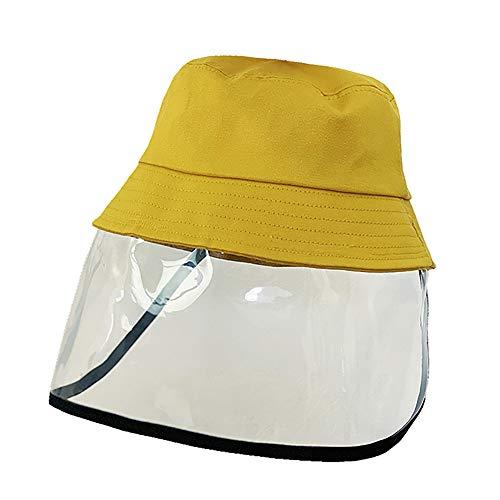RISF Fischerhut mit Gesichtsschutz, für Kinder, sicherer Schutz, Anti-Tröpfchen, Anti-Liva, winddicht, staubdicht, Visier