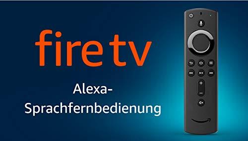 Alexa-Sprachfernbedienung für Fire TV, mit Tasten für An/Aus und Lautstärke - erfordert ein kompatibles Fire TV-Gerät