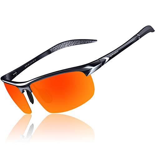 KITHDIA KITHDIA Herren Sport Polarisierte Sonnenbrille Aluminium Magnesium Rahmen S8199