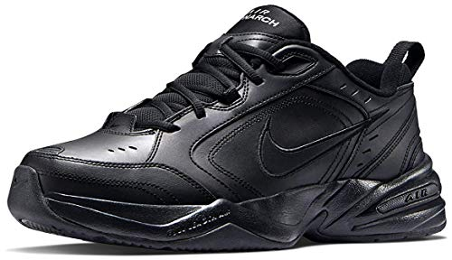 Black Leather Athletic Shoes for Men