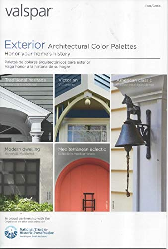 Valspar Paint Catalog, Exterior Architectural Color Palettes, Chips/Samples for Traditional, Victorian, Modern Dwelling, American Classic, Mediterranean Eclectic - Duramax Reserve Brands