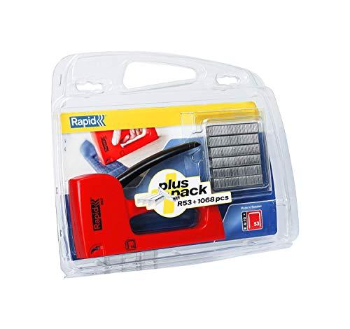 Rapid Handtacker R53 Set, Tacker für Holz und Stoffe inkl. 1068 Klammern Typ 53