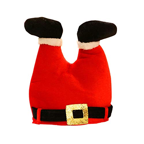DADING Christmas Decorations Creative Funny red Trousers Christmas Hats Party Red Christmas Pant hat