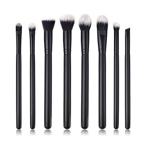 OPSBNWEUYS 8pcs Maquillage Brosse Ombre à paupières/Poudre/mixeur/correcteur/Fond de Teint Plat/Blush