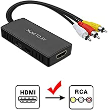 HDMI to AV Converter, HDMI Converter to RCA, HDMI Video Audio Adapter to AV Converter Compatible for PS3 Blu Ray Player Sky HD Box (HDMI Converter to RCA)