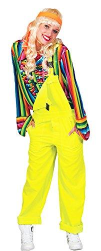 Das Kostümland Latzhose für Erwachsene - Neon Gelb Gr. L
