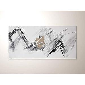 """Abstraktes Wandbild mit Weiß Schwarz""""Modern Flow"""" Original Gemälde Handgemalt – Moderne Acrylbilder- Wohnzimmer Leinwandbilder Direkt vom Künstler"""
