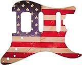 WD®; Custom Pickguard For Fender®; American Elite Stratocaster®; HSS #G09 American Flag Rel
