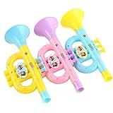 LOVEYue 1 Pieza Multicolor Cuerno Hooter Trompeta Instrumento Musical Educación Niños Juguete Juego De Regalo De Juguete Intelectual para Niños Color Aleatorio