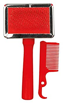 TRIXIE Brosse Souple avec Peigne de Nettoyage pour Chiens 6 X 13 cm