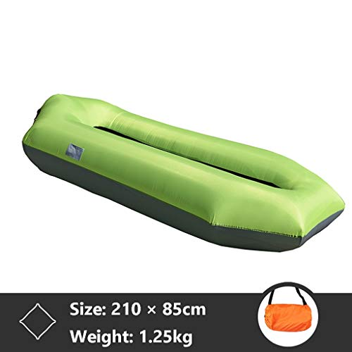 BOT Sofa Hinchable del Aire del Ocioso De con El Paquete Portable para Viajar, Acampar, Senderismo, Piscina Y Partidos De La Playa, Tumbonas Plegables, Tumbona Inflable Exterior (Color : Green)