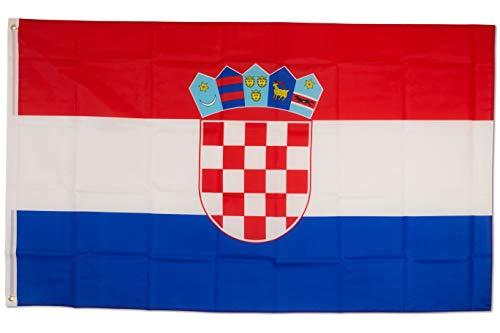 SCAMODA Bundes- und Länderflagge aus wetterfestem Material mit Metallösen (Kroatien) 150x90cm