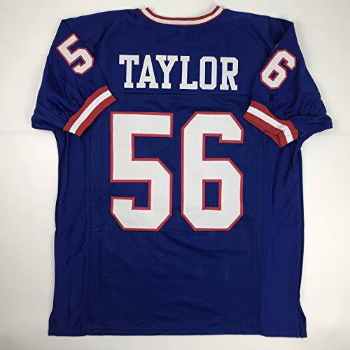 Unsigned Lawrence Taylor New York Blue Custom Stitched Football Jersey Size Men's XL New No Brands/Logos