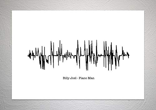 Billy Joel - Piano Man - Sound Wave Song Art Print - A4 formaat