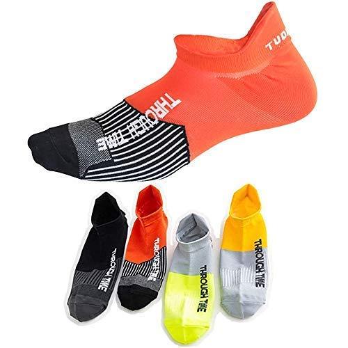 Xiyaoer スポーツソックス 靴下 メンズ くるぶし 滑り止め ランニングソックス スニーカーソックス バスケットボール トレーニング アウトドア 通気性抜群 吸汗速乾 (4足セット2)