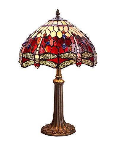 Lamparitas de Mesa Tiffany : Coleccion Belle Rouge de 30x50x30cms.